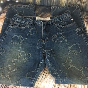 Desert Diva by Sherry Holt jeans sz 9 embroidered